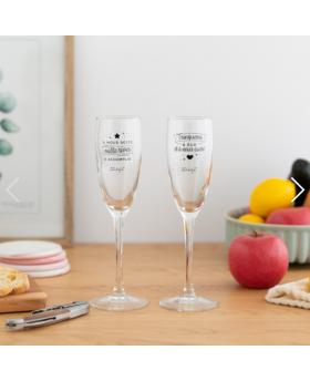 Set de 2 verres à champagne...