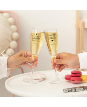 Set de 2 verres à champagne Milles rêves - MrWonderful