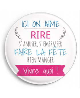 Magnet Ici on aime rire s'amuser ... - Pompom by Lou