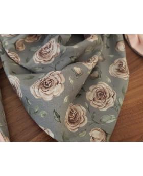 Chèche enfant Fleurs - Pompom by Lou
