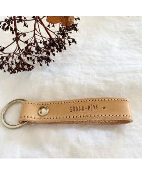 Porte-clés en cuir...