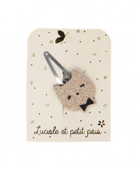 Barrette chat paillettes...