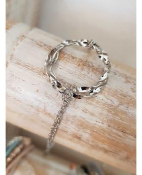 Bracelet acier Ondulé - Argenté
