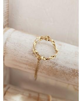 Bracelet acier Ondulé - Doré
