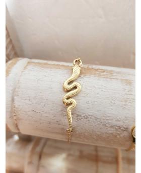 Bracelet acier Serpent - Doré