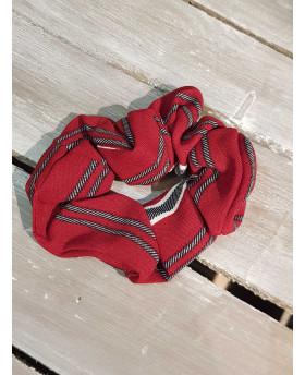 Chouchou rouge ligné