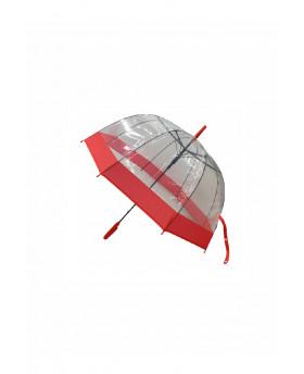 Parapluie Transparent - Rouge