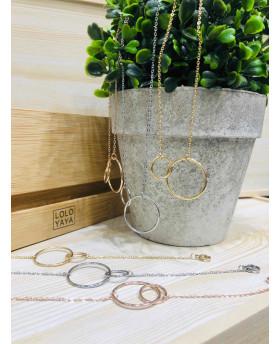 Bracelet acier - Double anneaux