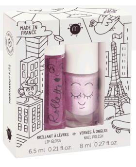 Coffret duo vernis + rollette LOVELYCITY- Nailmatic